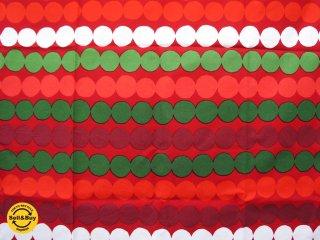 "marimekko / マリメッコ ""RASYMATTO"" ファブリック生地 US限定色 クリスマスカラー 134x121cm ●"