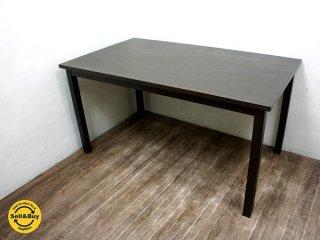 無印良品 muji タモ材 ブラウン ダイニングテーブル W140cm ●