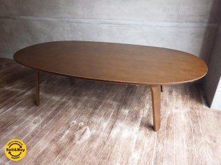 無印良品 MUJI / タモ材 オーバルこたつテーブル ♪