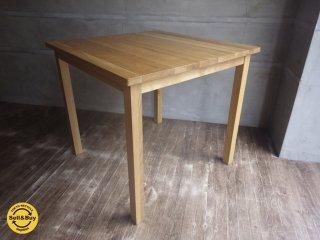 無印良品 MUJI / オーク 無垢材 ダイニングテーブル 正方形 幅80cm 2人掛け♪