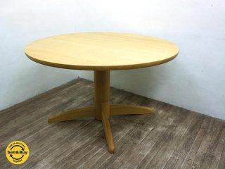柏木工 オーク無垢材 ELES ダイニングテーブル ラウンド型 ●