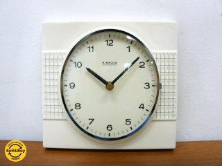 KIENZLE キンツレ ビンテージ ウォールクロック 陶板 時計 ドイツ ●