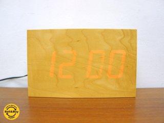 匠工芸 TAKUMI デジタルクロック トーカ メープル 置時計 旭川 岩崎広治 ●