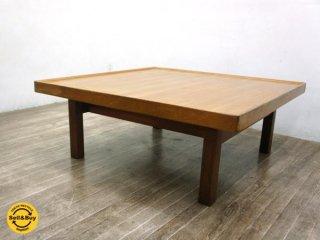 チーク材 ビンテージ ローテーブル / センターテーブル 北欧スタイル ●