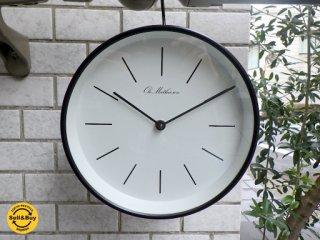 デンマーク  オーレ・マティーセン  LINE DIAL ブラック / Φ215 OM2B-WL2 ウォールクロック  掛時計 ■