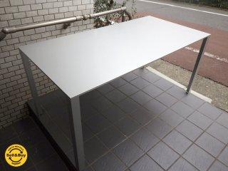 希少 廃盤 MUJI 無印良品  アルミ フレーム テーブル デスク w150 ハニカム ■
