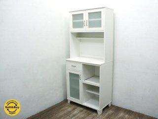 Momo Natural モモナチュラル LAND ランド レンジボード 食器棚 ホワイト ●