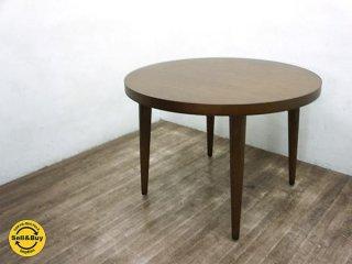 飛騨産業 キツツキ Sereno セレーノ ラウンド ダイニングテーブル タモ材 ●