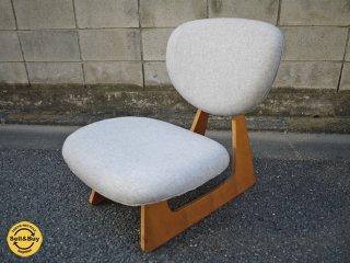 天童木工 TENDO ビンテージ 低座椅子 長大作デザイン グレー 和モダン ◎