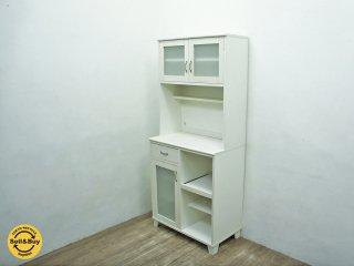 Momo Natural モモナチュラル LAND ランド キッチンボード 食器棚 ホワイト ◇