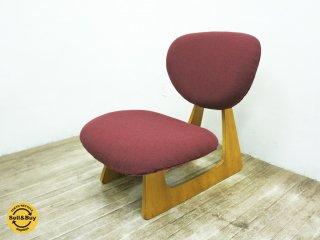 天童木工 TENDO ビンテージ 低座椅子 長大作デザイン えんじ色 和モダン ◇