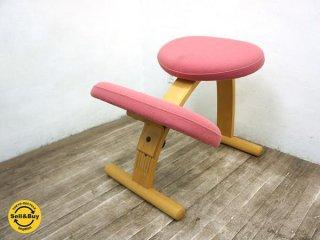 ノルウェー Rybo社 バランス チェア イージー 学習椅子 ピンク ●