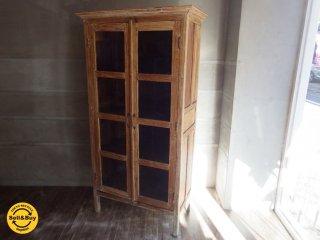 Old maison オールドメゾン / ガラスキャビネット 食器棚 古材 ♪