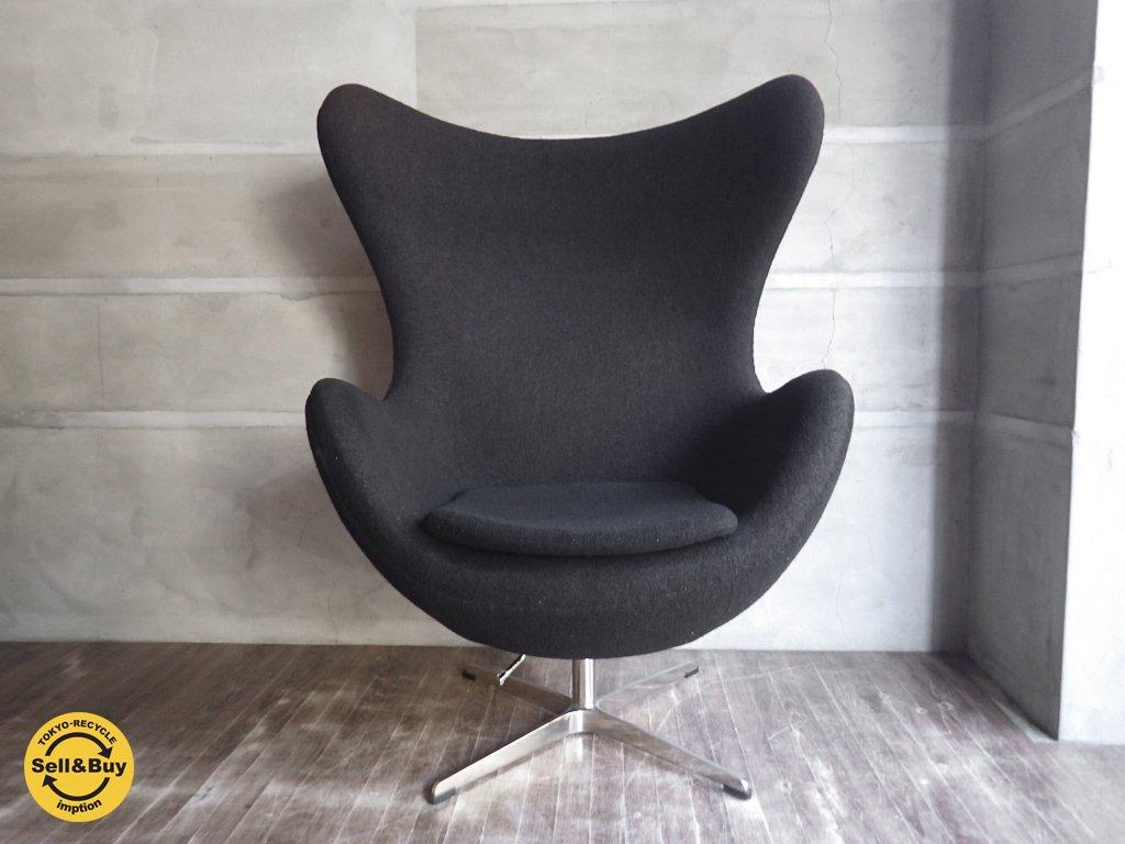 Egg Chair エッグチェア ジェネリック / アルネヤコブセン デザイン /  ブラック 黒 ♪