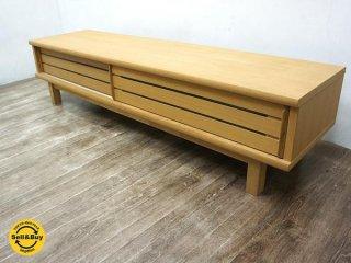 ナチュラルデザイン 木製 タモ材 AVボード TV台 w158cm ●