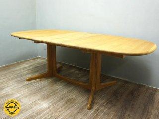 デンマーク GUDME グドメ社 オーク材 伸長式 ダイニングテーブル ●