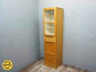 広松木工 HIROMATSU ルーチェ LUCE カップボード 食器棚 アルダー材 ●