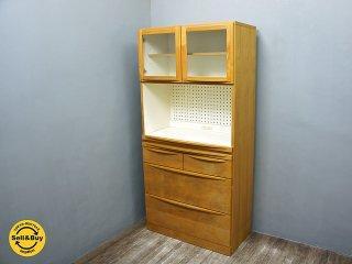 広松木工 HIROMATSU ルーチェ LUCE カップボード 食器棚 アルダー材 幅84cm ●