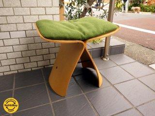 天童木工 Tendo バタフライスツール メープル 柳 宗理 クッション付 ■