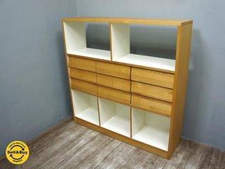 unico ウニコ TUO トゥオ オープンシェルフ アルダー材 広松木工製 廃盤 ●