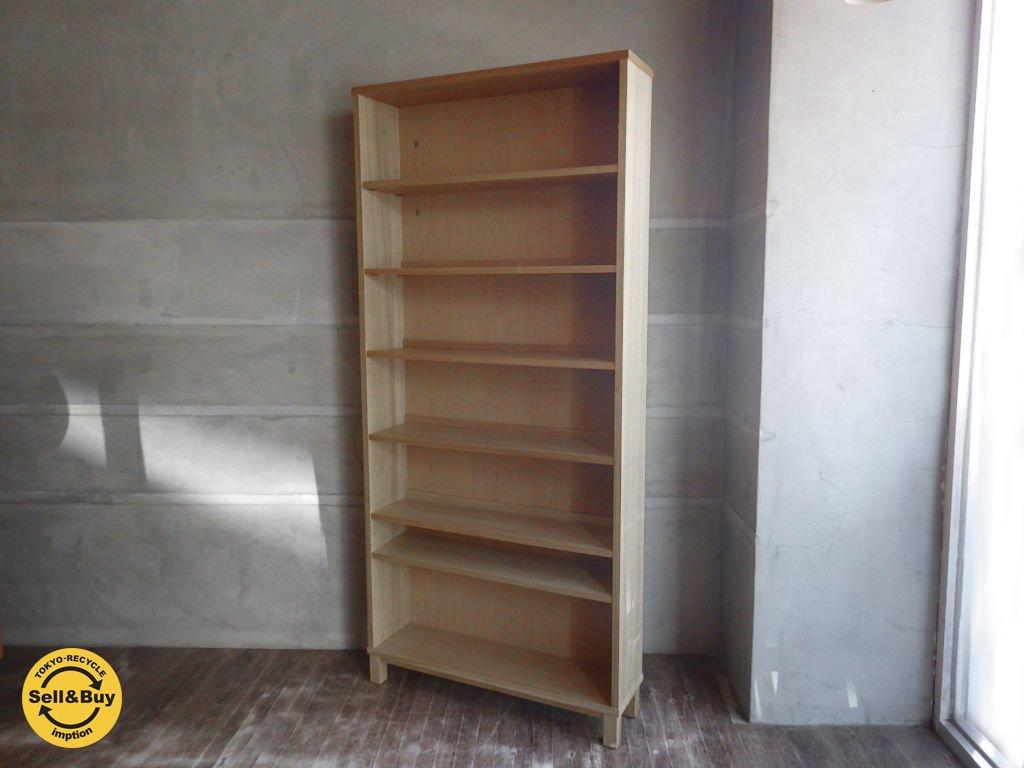 無印良品 MUJI 『 組み合わせて使える木製収納 』ミドルタイプ 本棚 キャビネット ブックシェルフ ♪