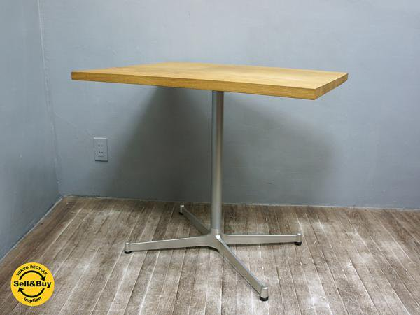 greeniche グリニッチ オーク無垢材天板 スタンダード カフェテーブル H70cm ●