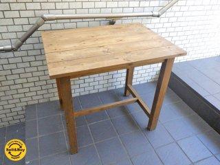 パイン無垢材 アトリエ ワークテーブル デスク 作業台 ■