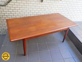 北欧 ビンテージ チーク材 ローテーブル センターテーブル ■