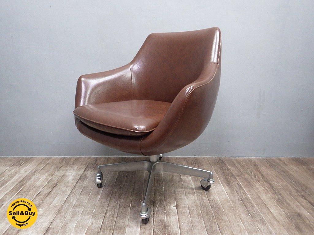 SWITCH スウィッチ Cosmic Chair コスミックチェア キャスタータイプ ブラウン レトロスタイル ●
