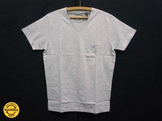 アスティエ・ド・ヴィラット ASTIER de VILLATTE コミューンドゥパリ COMMUNE DE PARIS トリコロールコレクション Vネック Tシャツ グレー XS ●