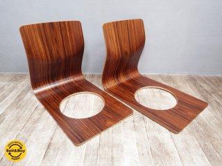 TENDO 天童木工 ローズウッド 座椅子 藤森健次 プライウッド 2脚 B ●
