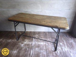 CRUSH GATE クラッシュゲート knotantiques ノットアンティークス / BATTON� TABLE バトンテーブル パイン材 ♪