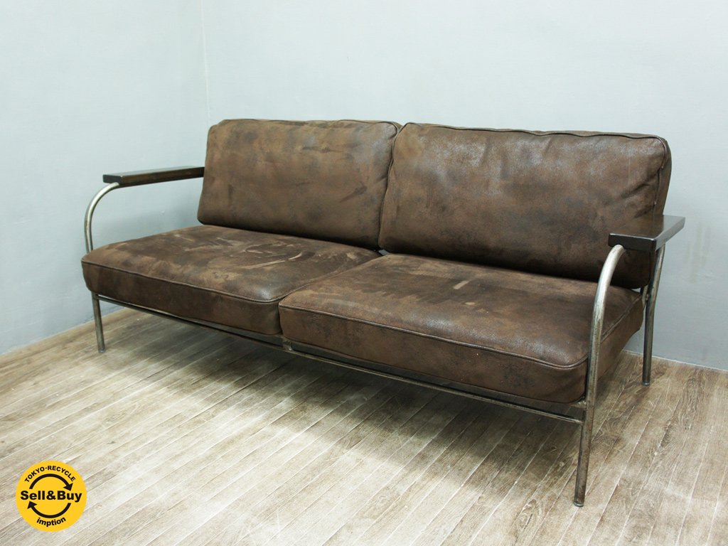 journal standard Furniture / ジャーナルスタンダード 現行 『 LAVAL SOFA / ラバルソファ 二人掛け 』 美品 ●
