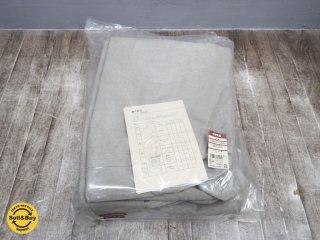 未使用品 無印良品 MUJI 綿平織 ソファ 本体 スリムアーム 2.5 シーター用 カバー ベージュ ●