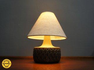 Soholm / スーホルム ヴィンテージ陶製テーブルスタンド ランプ ライト 布シェード EINAR JOHANSEN ●