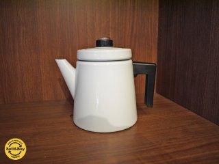 フィンランド Vuokko ヴォッコ 復刻品 ホーローコーヒーポット 未使用箱付 デザイン:アンティ ヌルメスニエミ ホワイト ◎