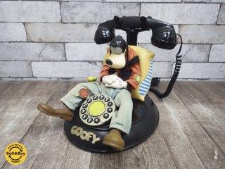 ビンテージ グーフィー 電話 Goofy Telephone ディズニー ジャンク ●