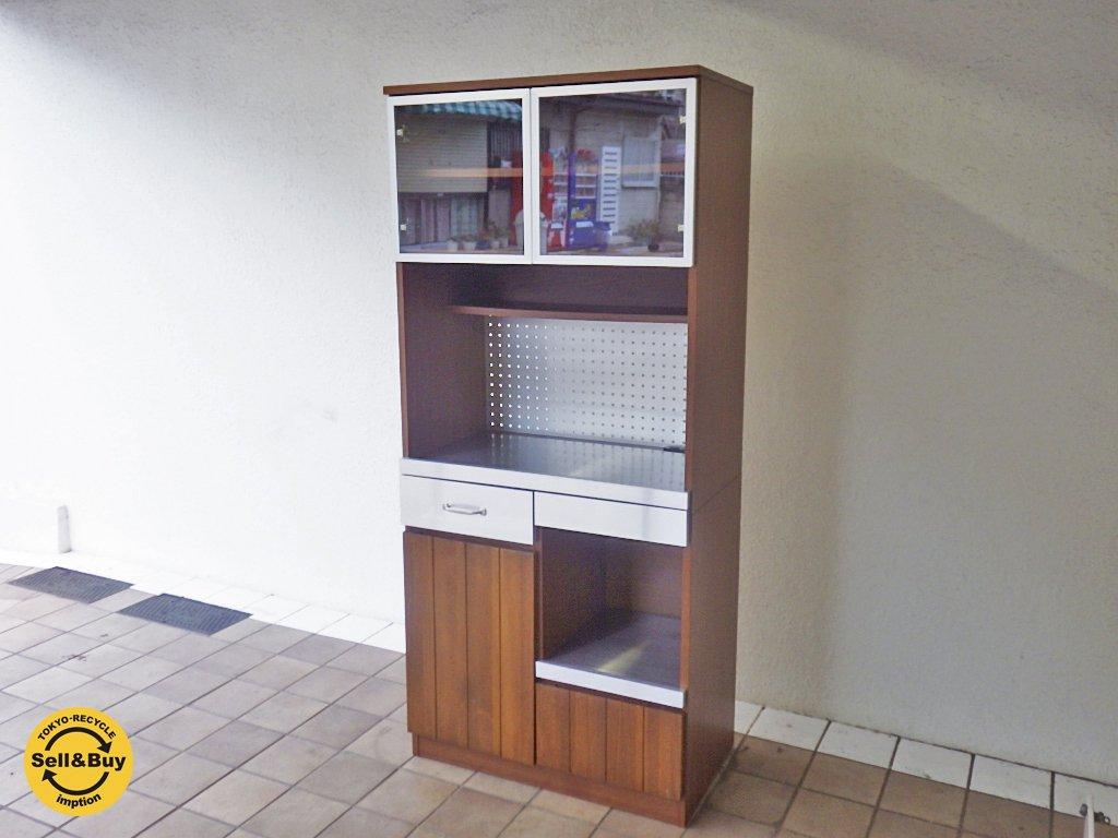 ウニコ unico ストラーダ STRADA レンジボード オープンタイプ  食器棚 ◇
