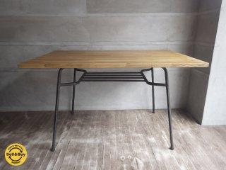 インプション リメイク / 工業系 アイアン脚 古材天板 ダイニングテーブル インダストリアルデザイン ♪