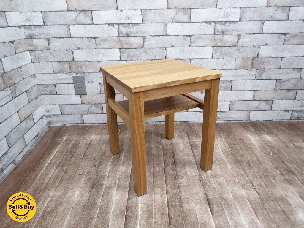 無印良品 MUJI タモ材 ベッド サイド テーブル ベンチ 花台 ●