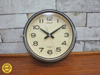 セイコー SEIKO  防塵型 クロック 掛け時計 レトロ ◇