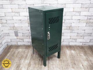 リオン LYON スチールロッカー HALF LOCKER グリーン 廃盤色 ダイヤカット P.F.S取扱 ●