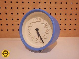 レムノス LEMNOS 小さな時計 Riki clock 渡辺力 壁掛け ブルー 未使用箱付 ●