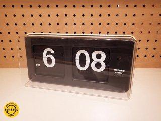トゥエンコ TWEMCO レトロデザイン パタパタ時計 置時計 掛け時計 ●
