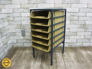 UKビンテージ ファイルケース 書類棚 MYERS SYSTEMTRAY44 builds tray on tray with Risers 404 or 405 ●