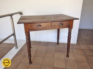 ジャパンビンテージ Japan Vintage 古い木味のデスク 作業台 ワークテーブル  ◇