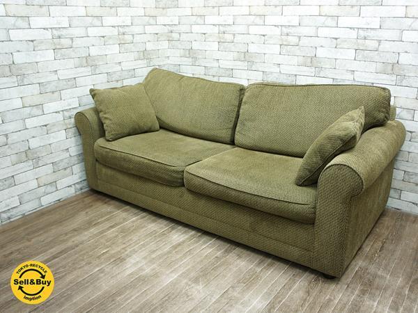 バウハウス BAUHAUS 3Pソファ ソファベッド ダブルサイズ コイルマットレス ●