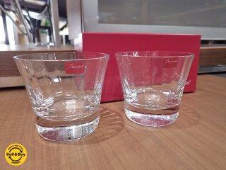 バカラ Baccarat ミルニュイ ロックグラス タンブラー ペア 箱付 未使用品 ●