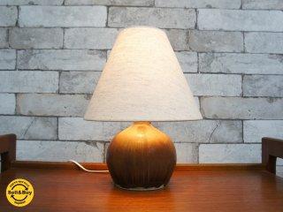 ロールストランド Rorstrand ヴィンテージ陶製テーブルスタンド グンナーニールンド ランプ ライト ●