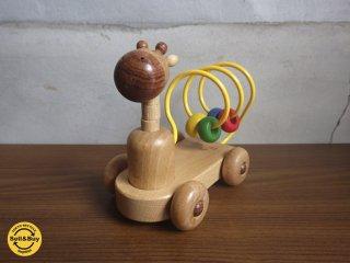 プレイミーPlayMeToys 木製玩具 ベビールールー キリン ♪